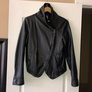 Free People Black Faux Leather Moto Jacket, 10.